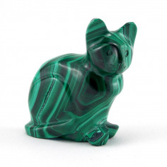 Chat en malachite 52,9g