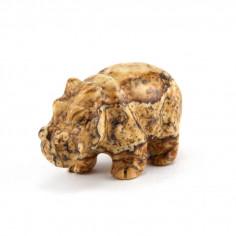 Hippopotame Jaspe Paysage 1,5 cm