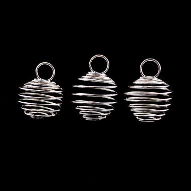 3 Cages pendentif pour pierre taille L argentée