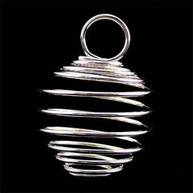 Cage pendentif pour pierre taille L argentée