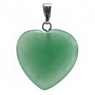 Pendentif coeur Aventurine verte