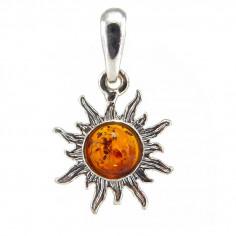 pendentif soleil ambre