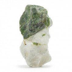 Diopside sur quartz brut