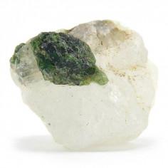 Diopside sur quartz brut 28,5g pièce unique