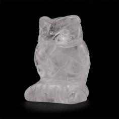 Chouette en cristal de roche 35g pièce unique