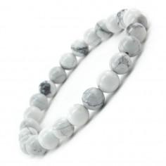 Bracelet en Howlite perles 8 mm