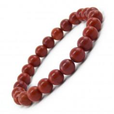 Bracelet en Jaspe rouge perles 8 mm