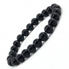 Bracelet en Obsidienne oeil céleste perles 8 mm
