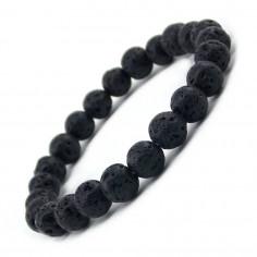 Bracelet en pierres de lave perles 8 mm