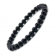 Bracelet en Onyx noir perles 6 mm