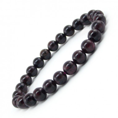 Bracelet en grenat extra perles 9 mm