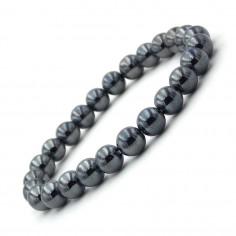 Bracelet en hématite perles 8 mm