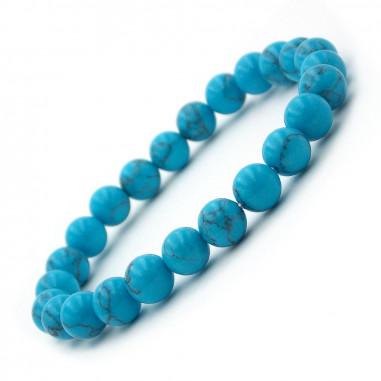 Bracelet en turquoise perles 8 mm (Turquenite)