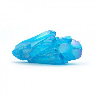 Aqua aura bleue pointe (traitement or pur) 4 à 5 cm 15 à 20 g