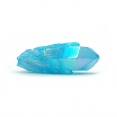 Aqua aura bleue pointe (traitement or pur) 5 à 5,5 cm 20 à 25 g