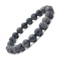 Bracelet en perles de Larvikite 8 mm