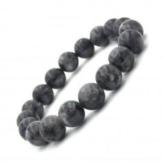 Bracelet en perles de Larvikite 12 mm