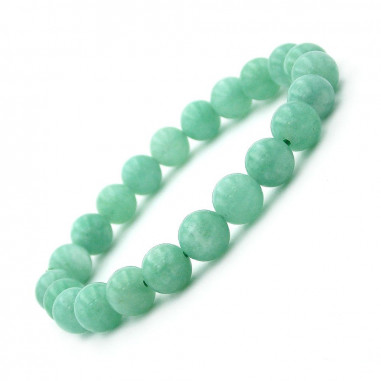 Bracelet en Jade de Birmanie Extra perles 8 mm