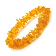 Bracelet en Ambre jaune véritable éclat