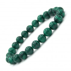 Bracelet en Malachite Extra véritable perles 8 mm