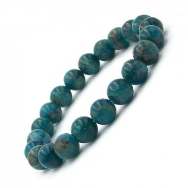 Bracelet en Apatite bleue Extra perles 8 mm