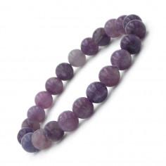 Bracelet en Lépidolite perles 8 mm
