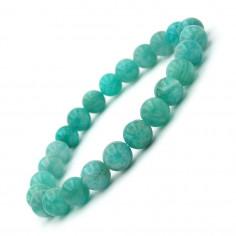 Bracelet en Amazonite Extra perles 8 mm