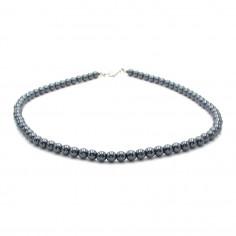 Coller en perles d'hématite 6 mm