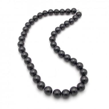 Collier en perles 12 mm de shungite