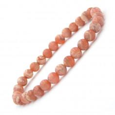 Bracelet en Rhodochrosite Extra perles 6 mm