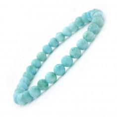 Bracelet en Larimar Extra perles 6 mm