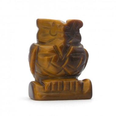 Hibou en Oeil de tigre 3,5 cm