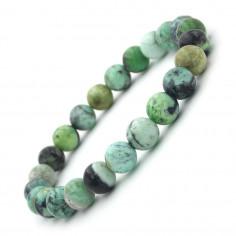 Bracelet en Variscite perles 8 mm
