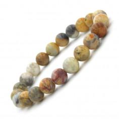 Bracelet en Agate crazy lace perles 8 mm