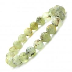 Bracelet en Prehnite épidote perles 8 mm