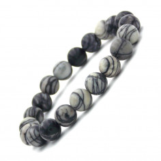 Bracelet en Jaspe Picasso perles 8 mm