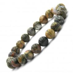 Bracelet en Rhyolite perles 8 mm