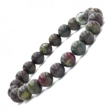 Bracelet en Dragon stone perles 8 mm