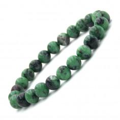 Bracelet en Zoïsite perles 8 mm