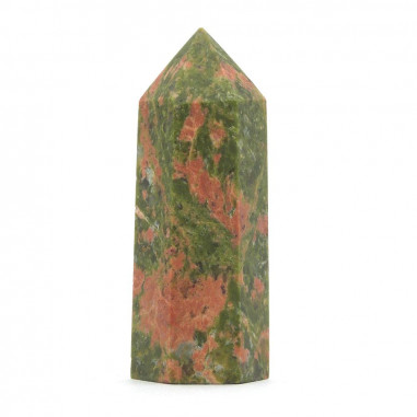 Pointe en Unakite 5 à 6 cm