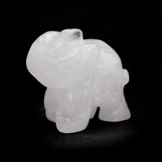 Éléphant en Cristal de roche 4 cm