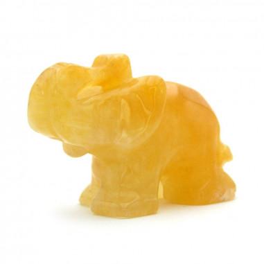 Éléphant en Aventurine jaune 4 cm