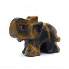 Elephant Oeil de tigre cm Pièce unique