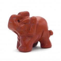 Éléphant Jaspe rouge 4 cm