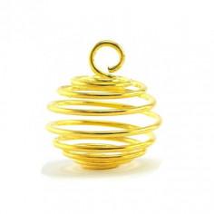 Cage pendentif pour pierre taille M dorée